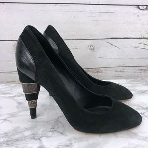 Salvatore Ferragamo Shoes - Salvatore Ferragamo Nero Like Pump Croc Pyton 9.5